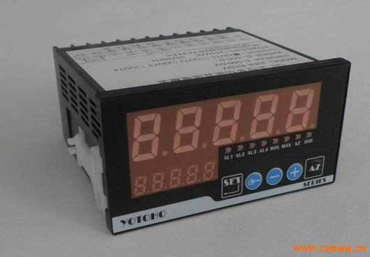 1、 高亮度08LED显示值,轻触按键设定工作参数,可靠耐用; 2、 万能信号输入,TC、RTD、V、mV、A、mA、欧姆等信号输入,可通过软件切换选择; 3、 高速采用测量,最高高达30次/秒的采样率; 4、 高速辨率:15位码无缺失分辨力; 5、 显示设定范围:-19999~99999; 6、 可对强电输入进行完全隔离,安全可靠; 7、 最多可带4路报警输出; 8、 带RS485通讯功能(ModBus-RTU协议); 9、 带0~10V或4~20mA变送输出功能(可定做高速16位分辨率变送输出) 10