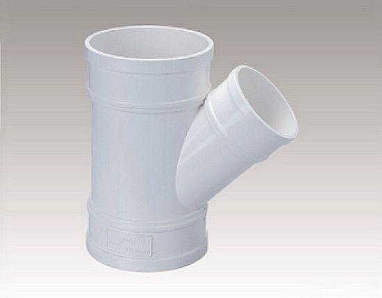 同正UPVC排水管件异径斜三通PVC U排水管件塑料异径斜三通