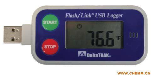 美国DeltaTRAK 重复使用高精准USB数据记录仪 20901