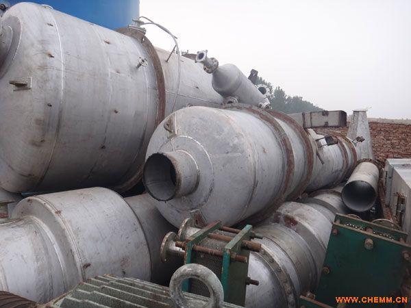 天津二手三效十吨蒸发量的薄膜蒸发器报价