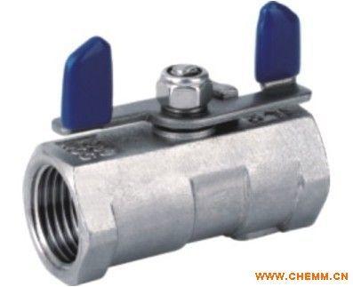 cqb-f型氟塑料磁力  产品名称:一片式内螺纹球阀(蝶形手柄) 一片式蝶图片