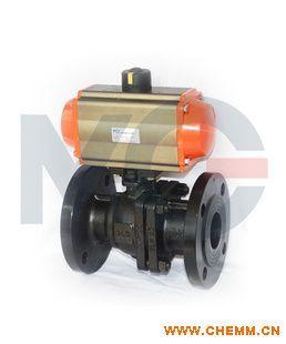 第二代气动发黑高平台法兰球阀 AT气缸 零泄漏 纯是设计