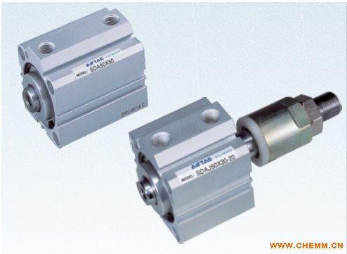 原装正品台湾亚德客薄型气缸 sda100*25-s复动型超薄气缸图片