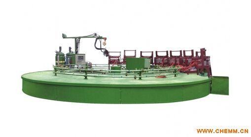 聚氨酯汽车坐垫发泡机三组份转盘式生产线
