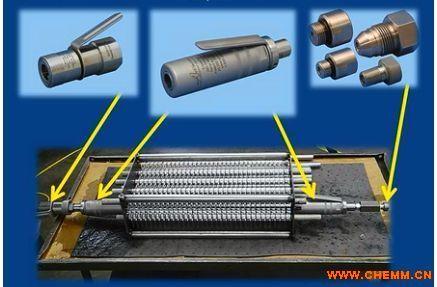 airmo翅片散热器胀管机串片换热器胀管机气动液压拉杆图片