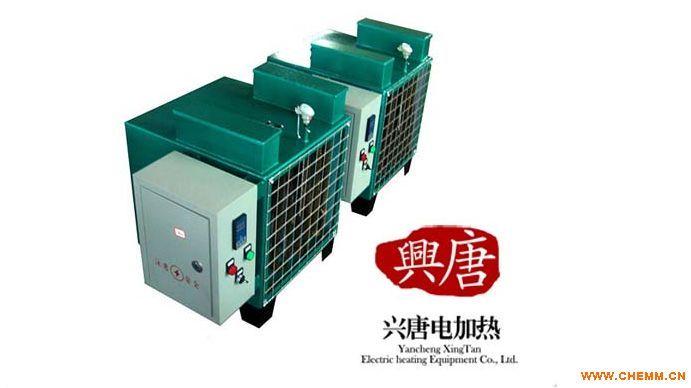 暖风机是由通风机,电动机及散热器组合而成的联合机组。适用于空气允许再循环的各种类型车间,当空气中不含灰尘,易燃性的气体时,可作为循环空气采暖之用。主要由空气加热器和风机组成,空气加热器散热,然后风机送出,使室内空气温度得以调节。空气加热器由螺旋翅片管组成。例如蒸汽型暖风机其散热排管是用铝带专用设备绕在壁厚为21.