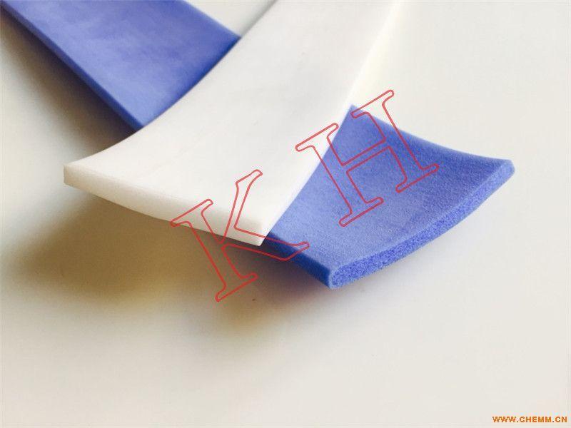 白色硅胶发泡密封条 耐高温硅胶条