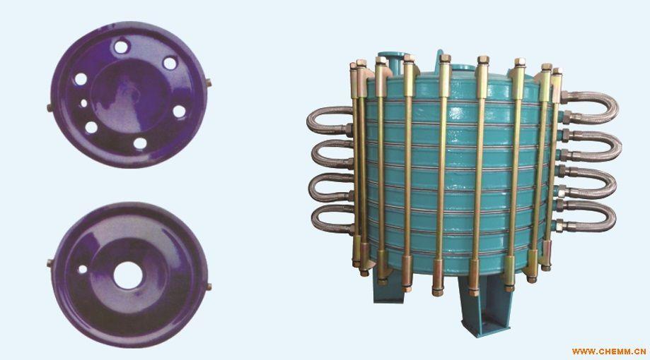 搪玻璃碟片式冷凝器搪瓷冷凝器换热器设备制冷设备