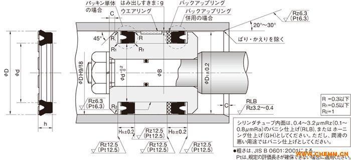 ouhr型日本nok液压缸密封圈