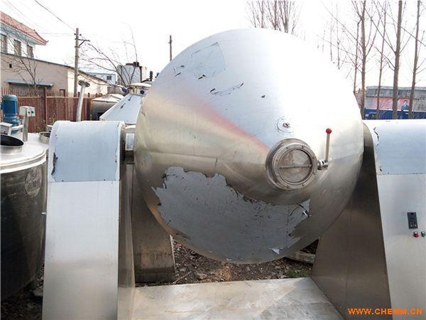 二手3000L不锈钢真空双锥干燥机厂商