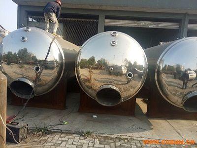 供应现货 二手10立方全不锈钢卧式抛光保温发酵罐