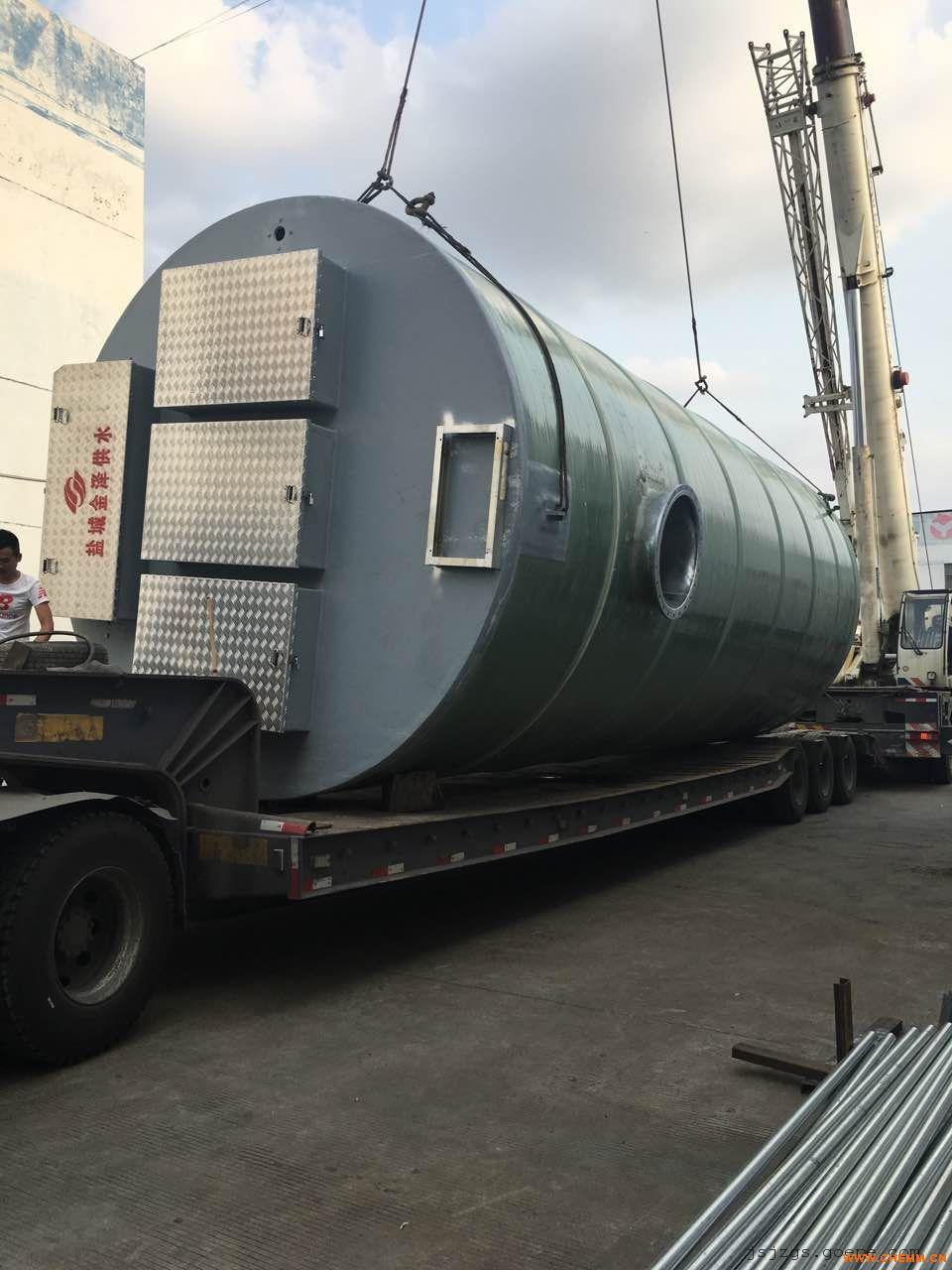 直径3.8米高度9米的一体化污水提升泵站价格