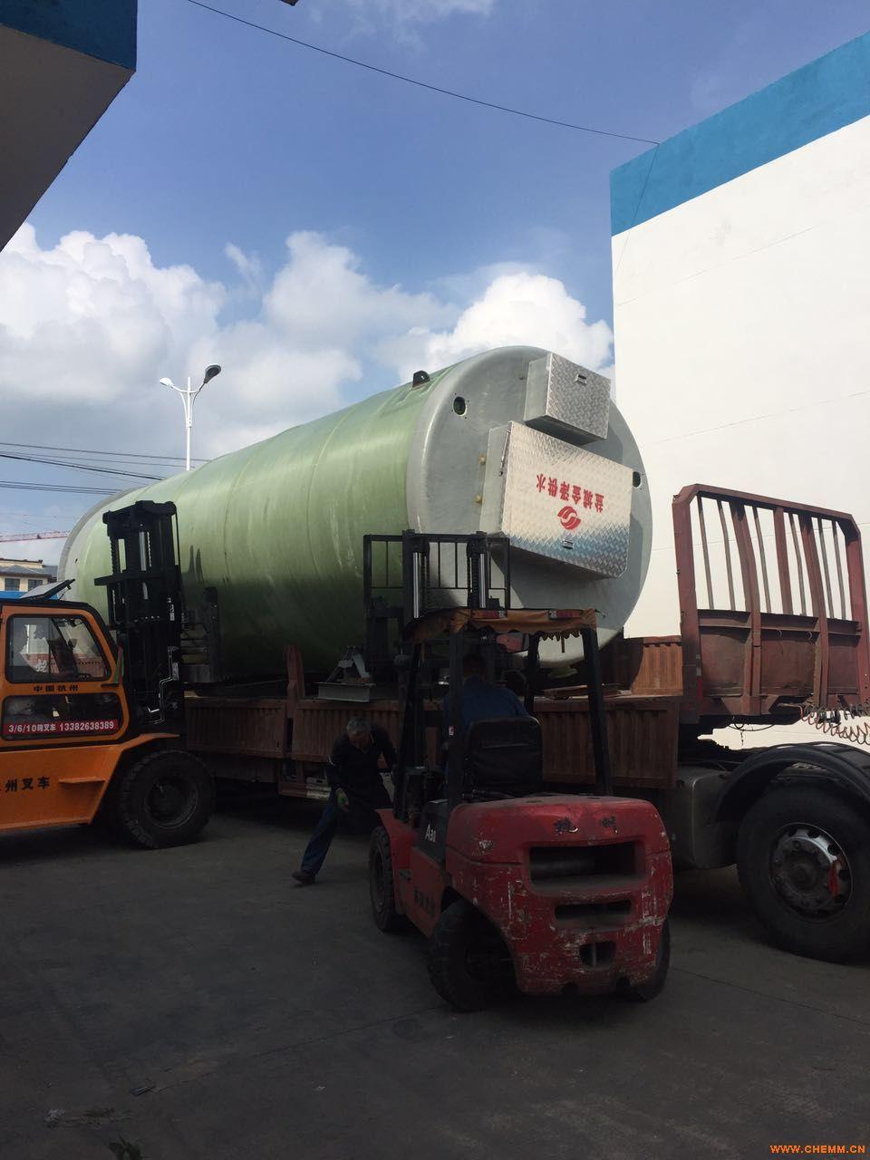 玻璃钢一体化污水提升泵站污水处理泵站