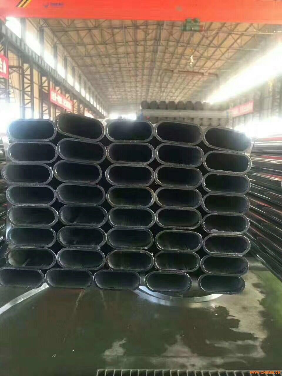 异型钢管冷拔镀锌平椭圆钢管30*60*1.5