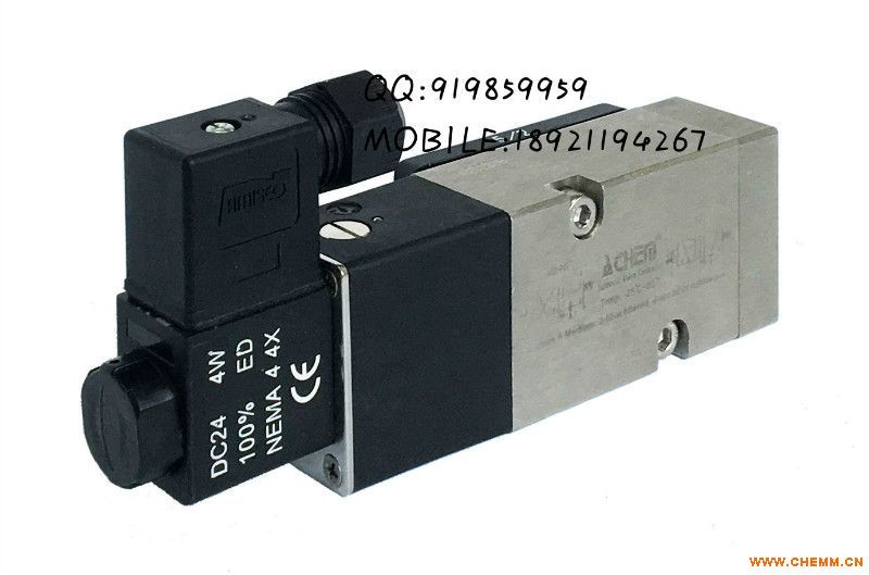 ALV610F3C0D板接式二位五通单电控高性能不锈钢电磁阀