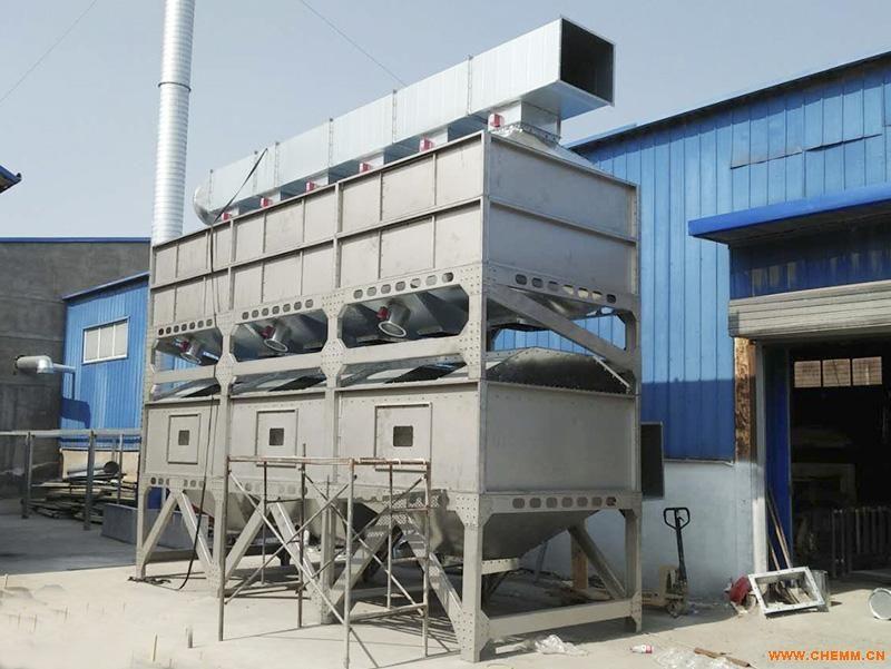 邹平伟航大型催化燃烧设备,活性炭环保箱,喷淋塔,无泵水幕伟航