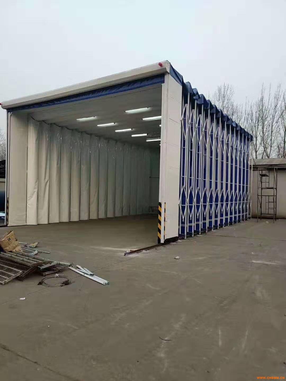 移动式伸缩喷漆房工业车间喷漆轨道式移动伸缩房结构特点