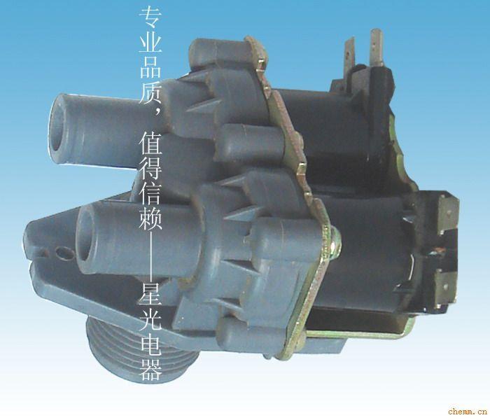 工作压力:0.02~0.8MPa;能承受静压力不低于2.0Mpa; 工作寿命:采用进口不锈钢弹簧和优质材料,正常工作不少于20万次(按每天工作100次算,使用寿命超过五年);电磁线圈的外封塑采用一次性成型的热固性塑料DMC 三、进水电磁阀(单通)的名称意义如:FCD-270B (1)其中F是表示阀门的汉语拼音缩写的意义 (2) C表示进出水口的相对角度(进出水的相对角度只有两种:即垂直用C表示、平行用P表示) (3) D表示出水口的数量(出水口的数量只有三种表示即单通用D表示、双通用S表示、多于两个出水
