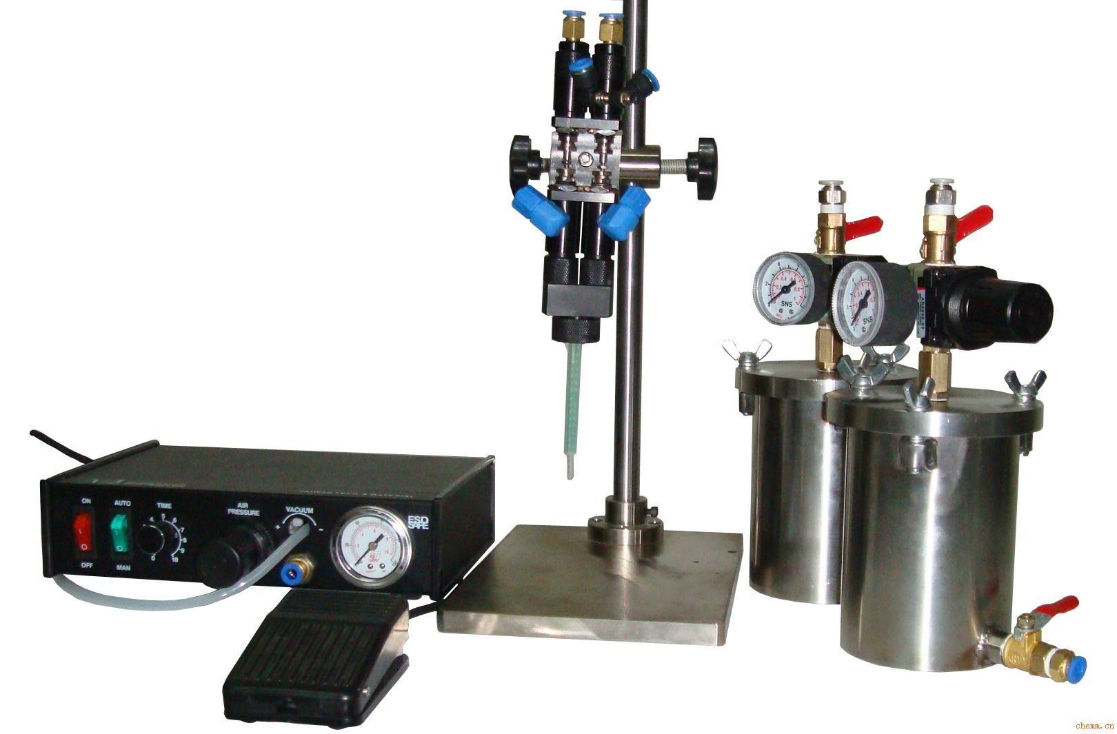 二手全制动三边液体 化工计量设备  产品名称:双液点胶机 产品编号