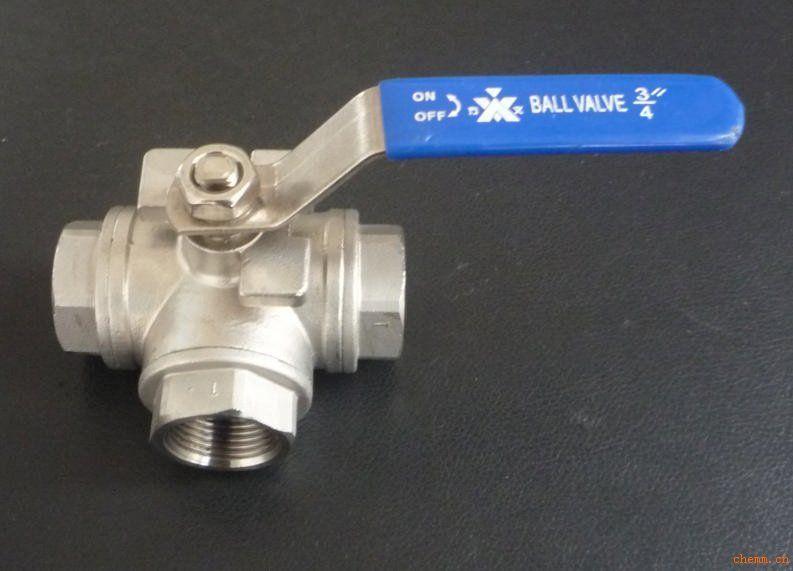 球阀  产品名称:不锈钢三通球阀 产品编号: 产品商标: 产品规格:dn15图片