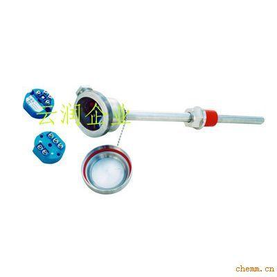 k分度号带温度变送器热电偶,m27×2螺纹安装,热电偶外径为Ф16mm,接线