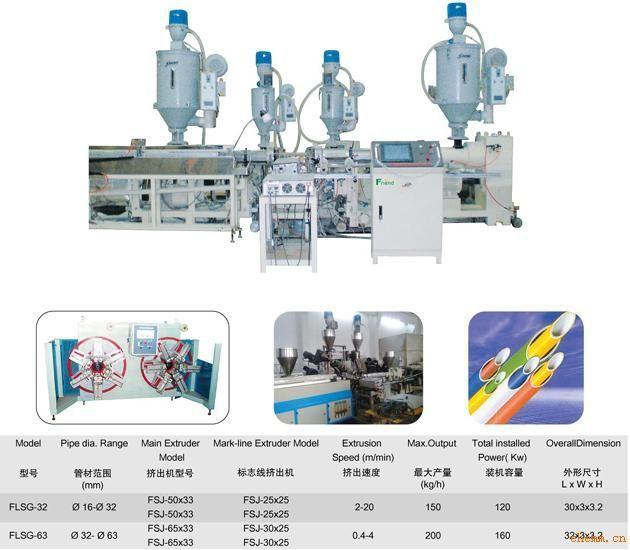 铝塑复合管生产线(∮16-∮63mm)
