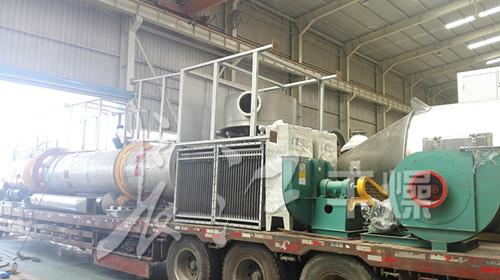 湖北某大型企业订制的2台回转滚筒干燥机顺利发货